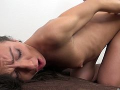 Deepthroat sucking slut Nataly Gold fucked by his boner
