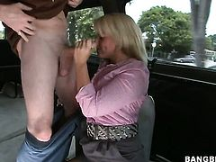 Blonde Casey Cumz with phat booty is horny as hell and gives tugjob with wild desire