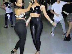 Two latin hot big ass dancing