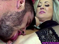 A big cock lover such as Brandi Love runs a male prostitution club that provides services to extravagant horny MILFs. In the hope that this hunk applicant Danny Mountain will be hired, he has to prove that he has a big cock that can last through the best blowjob.