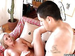 Blonde Skylar Price gives unthinkable headjob hard dicked guy