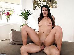 Brunette senora Samia Duarte is horny as hell and fucks with wild desire in this anal action