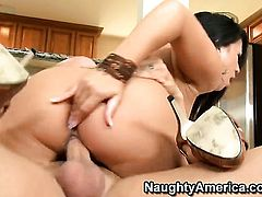 Derrick Pierce gets pleasure from fucking Asian Kayme Kai in her love hole