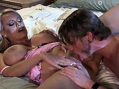 Stormy Daniels enjoys guys love stick in her mouth in crazy oral action