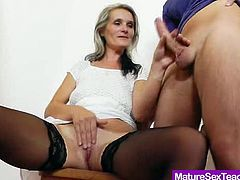 Alluring Milf showing off some of her dirtiest skills to make sure you will learn from the absolute best teacher
