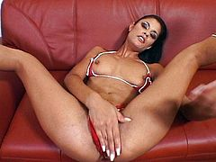 Rammed by two cocks is hot for her