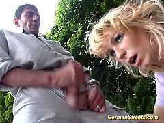 hot blonde busty german babe picked up for extreme anal in public
