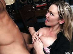 Danny Mountain is one hard-cocked stud who loves screwing Abbey Brooks in her booty