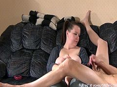 milf enjoys using hubby as a toy