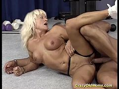 strong german step moms first bodybuilding sex at the gym studio