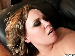 Blonde with bubbly bottom plays with dudes meaty fuck stick