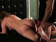 Maddy OReilly cant stop touching her ass way in solo action