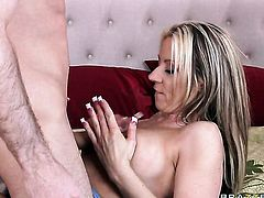 Carolyn Reese with huge boobs is a hard dick addict and her bang buddy James Deen knows it