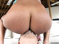 Brunette chick Priya Rai with big butt getting down and dirty