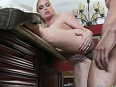 Carlo Carerra pops out his love torpedo to fuck fuck hungry Diamond Foxxxs bum