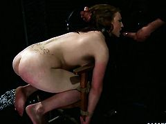 Redhead and horny dude have a lot of fun in this blowjob action