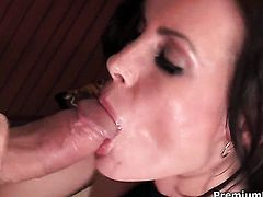 Amazing stunner Brandi Edwards is on fire in steamy oral action with hot guy