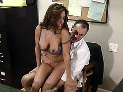 Francesca Le has fire in her eyes as she takes money shot on her eager face
