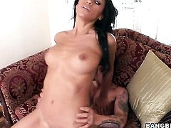 Brunette latin Cassandra Cruz cant wait to be nailed by her hot man