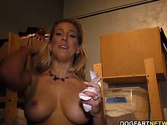 Cherie DeVille visits gloryhole. There's nothing hotter than a random hook-up in a filthy place, especially when she's bored and horny.