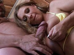 Extremely sexy wench Devon Lee satisfies mans sexual desires and then gets her pretty face cum glazed