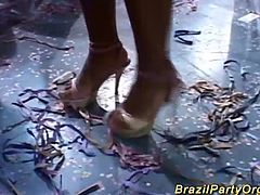 brazilian babes dancing and fucking at the latin dance party