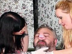Mouthsoaping a Dirty Pig - Julie Simone and Maya Sinstress