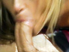 Courtney Simpson lets dude shove his erect meat stick in her mouth