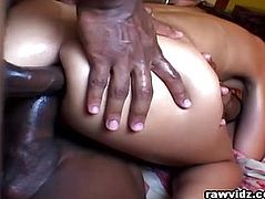 Black Guys Feast For A Cock Hungry Latina Slut