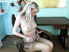 Fabulously hot minx Danielle Maye cant live a day without playing with her twat