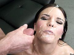 Peter North bangs juicy Mackenzee Pierces pretty face with his love torpedo