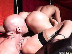 Johnny Sins bangs With massive jugs as hard as possible in hardcore sex action
