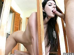 Brunette Kodi Gamble takes love wand up her cunt