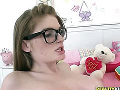Redhead Dani Jensen gets face slammed by Ramons rock solid love torpedo