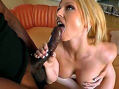 Christie Stevens is a blonde that is having interracial sex with a black guy. Her pussy is stretched to its limits by a big black cock. She is really enjoying herself.