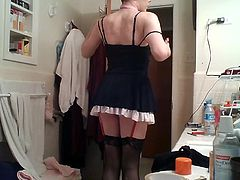 Tarty little sissy maid