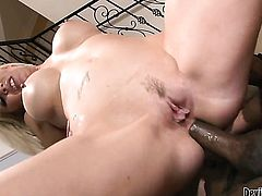 Mark Anthony makes Rocco Reeds man meat harder before getting her booty slammed after throat job