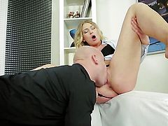Lucy Heart makes stud shoot his load after sex