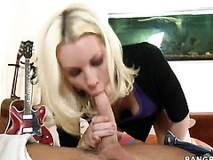 Blonde Brandi Edwards is on fire in steamy oral action with hot guy