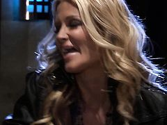Jessica drake cant get enough and takes guys stiff worm in her mouth again and again