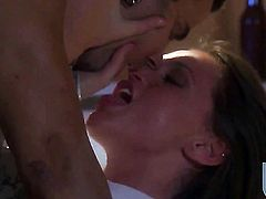 Tori Black gets throat fucked ruthlessly by hot bang buddy