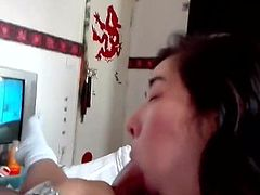 Amateur Couple - Asian Blows French Cock