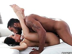 Sex hungry hottie Lela Star with bubbly ass takes sausage in her hands cause her man cant get enough