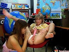Horny and marvelous teen chicks are busy having an amazing lesbians sex