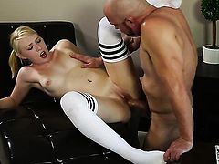 Cute cutie makes her dirty dreams a come to life with Will Powerss man meat deep down her throat