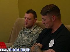 CORPORAL DANE'S FIRST GAY BLOWJOB