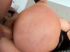 Candy Manson has woken up feeling the urge to fuck. So she jumps on her partner in bed and demands his dick in her ass. She jumps right on him.