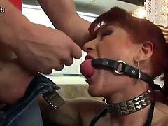 Dirty red head Mommy has Her beaver And butt hole Abused inside A Kitchen