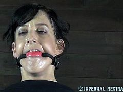 This dirty whore is getting humiliated and punished in the dungeon