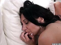 Brunette Ava Addams with juicy bottom and Abbey Brooks spend their sexual energy together
